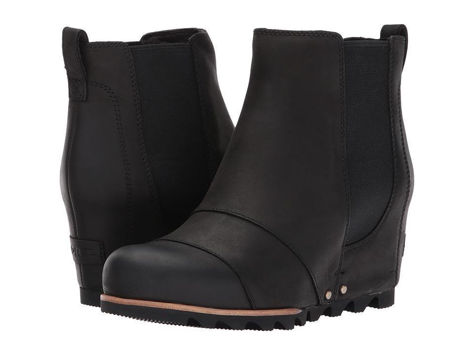 SOREL - Lea Wedge (Black/Quarry) Womens Waterproof Boots