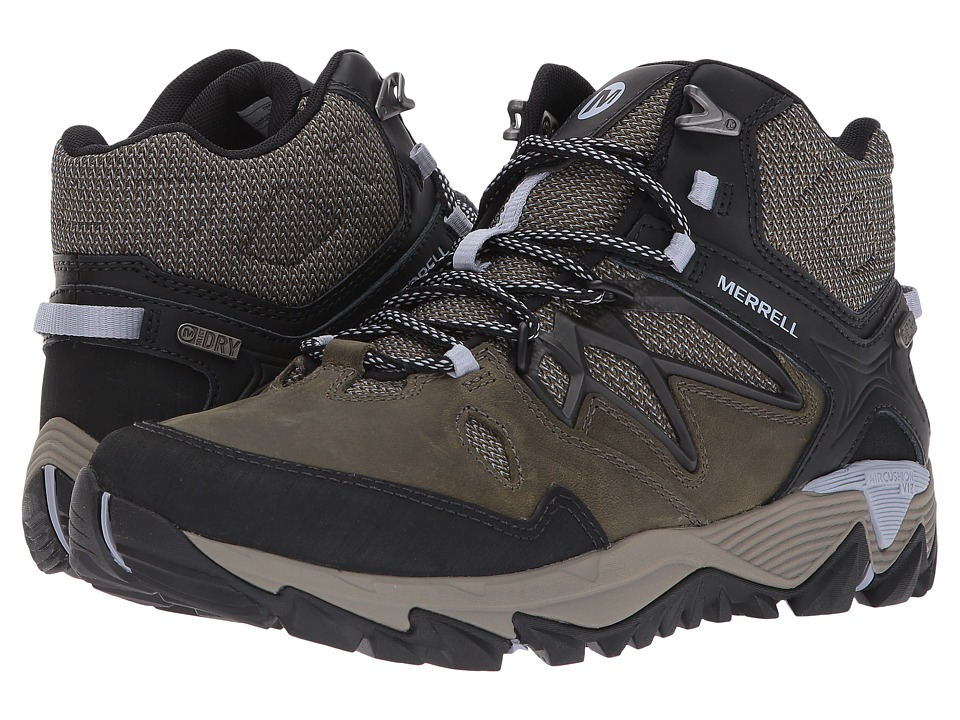 Merrell All Out Blaze 2 Mid Waterproof (Dark Olive) Women's Shoes