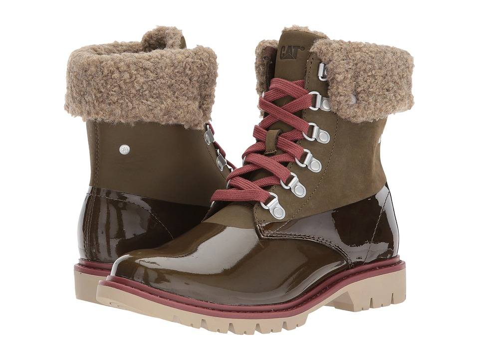 Caterpillar Casual Hub Hiker Fur (Dark Olive) Women