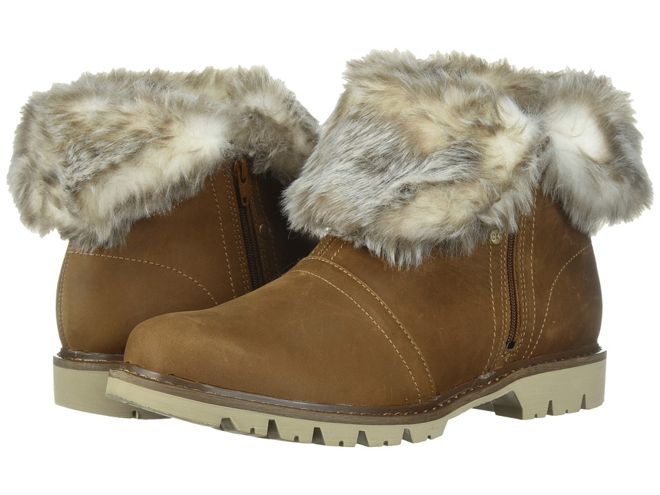 Vintage Style Boots, Retro Boots, Granny Boots, Fur Top Boots Caterpillar Casual - Flurry Fur Waterproof Dachshund Womens Lace-up Boots $110.00 AT vintagedancer.com