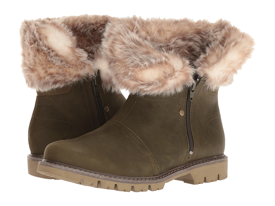 Caterpillar Casual Flurry Fur Waterproof (Dark Loden) Women
