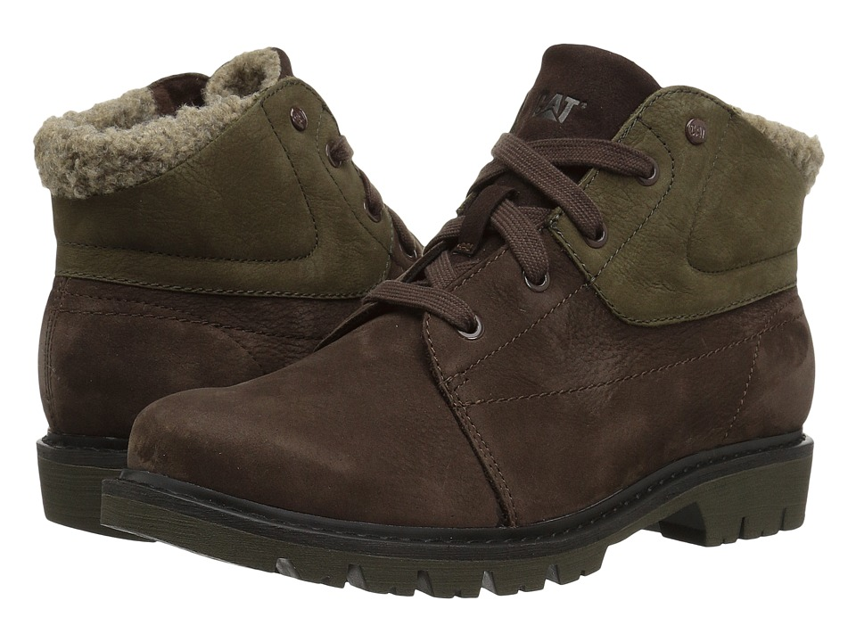 Caterpillar Casual Fret Fur Waterproof (Dark Brown) Women