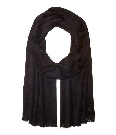 Calvin Klein Solid Satin Finish Pashmina - Black