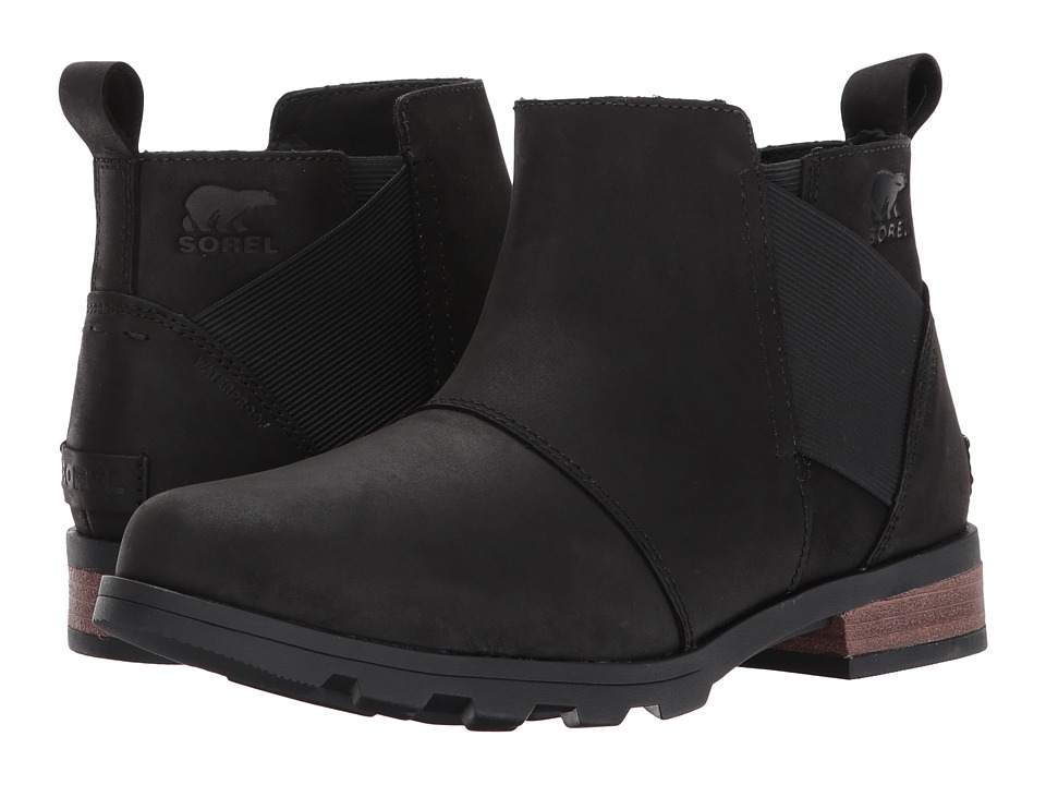 SOREL Emelie Chelsea (Black) Women's Waterproof Boots