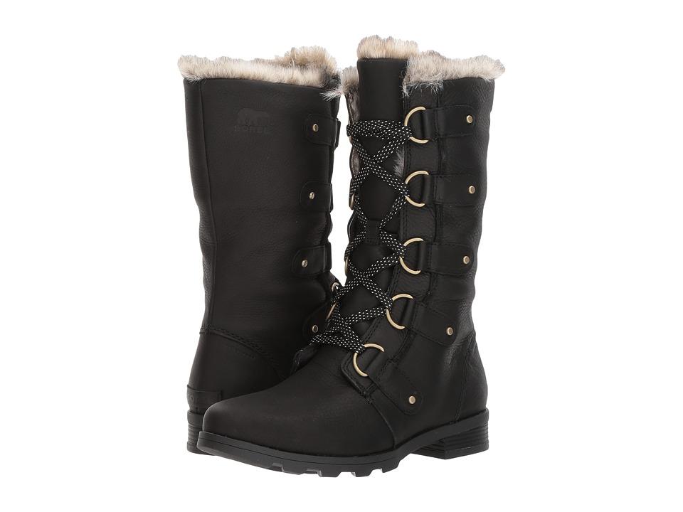 Sorel Emelie Lace Premium (Black) Women's Waterproof Boots