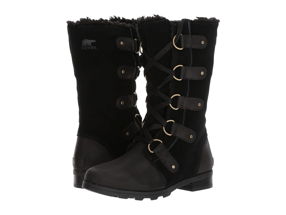 SOREL Emelie Lace (Black) Women's Waterproof Boots