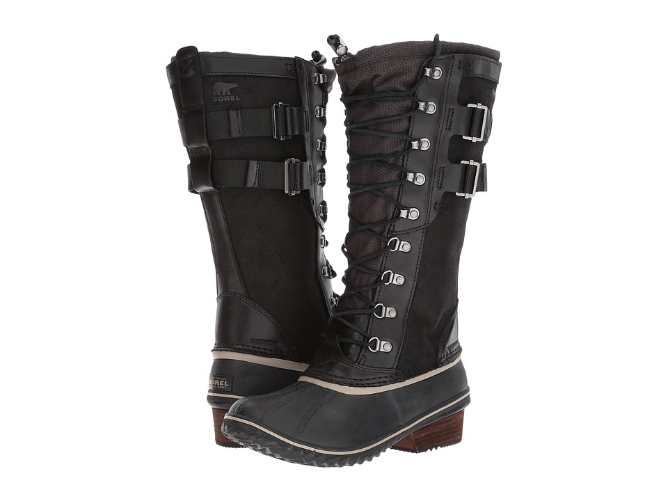 SOREL Conquest Carly II (Black/Silver Sage) Women's Waterproof Boots