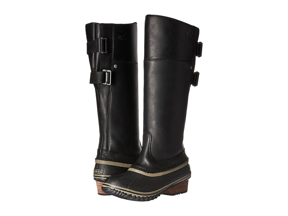 SOREL Slimpack Riding Tall II (Black/Kettle) Women's Waterproof Boots