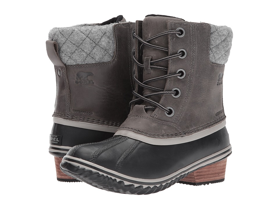 SOREL Slimpack II Lace (Quarry/Black) Women's Waterproof Boots