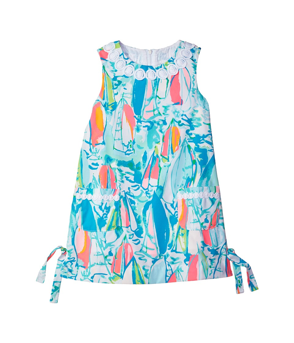 Lilly Pulitzer Kids Little Lilly Classic Shift (Toddler/Little Kids/Big Kids) (Multi Beach and Bae Sunglow) Girl