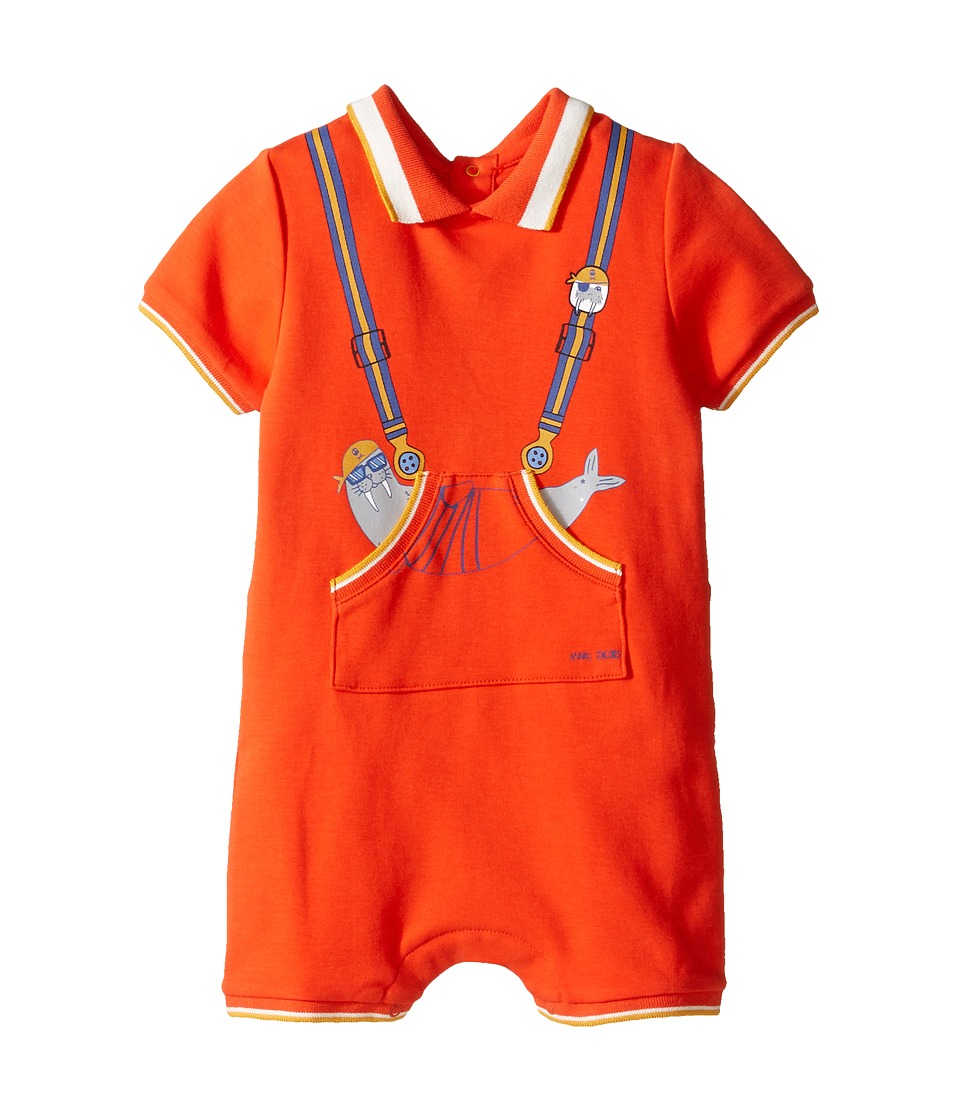 Little Marc Jacobs - Polo Style Romper with Cute Front Print