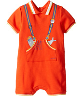 Little Marc Jacobs - Polo Style Romper with Cute Front Print (Infant)