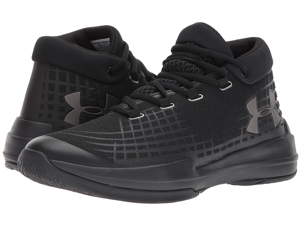 Under Armour - UA NXT (Black/Black/Black) Mens Basketball Shoes
