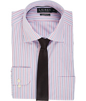 LAUREN Ralph Lauren - Non Iron Poplin Stretch Classic Fit Spread Collar Stripe Dress Shirt
