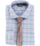 LAUREN Ralph Lauren - Non Iron Poplin Stretch Classic Fit Spread Collar Plaid Dress Shirt
