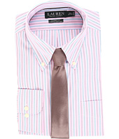 LAUREN Ralph Lauren - Non Iron Poplin Stretch Classic Fit Button Down Collar Stripe Dress Shirt