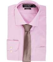 LAUREN Ralph Lauren - Non Iron Poplin Stretch Slim Fit Spread Collar Derss Shirt