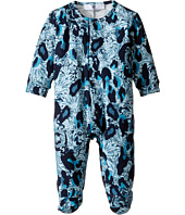 Versace Kids - Long Sleeve Animal Print Footie w/ Snap Front (Infant)