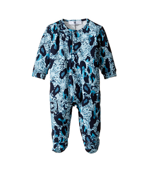 Versace Kids Long Sleeve Animal Print Footie w/ Snap Front (Infant)