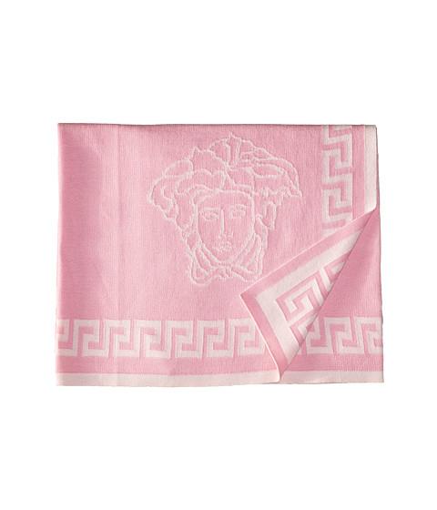 Versace Kids Knit Medusa Blanket w/ Greca Border