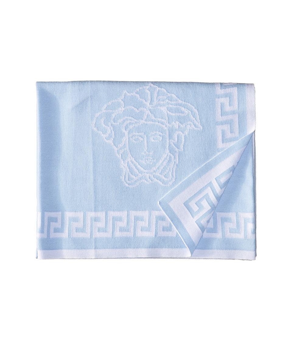 Versace Kids - Knit Medusa Blanket w/ Greca Border