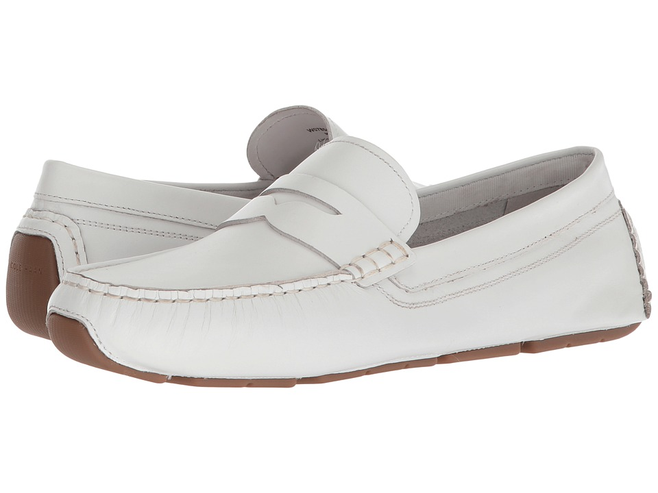 Cole Haan Rodeo Penny Driver (White Leather) Women's Shoes