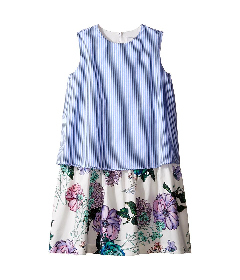 Versace Kids - Layered Striped Floral Print Dress