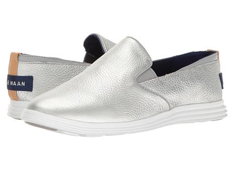 Cole Haan Ella Grand 2Gore Slip - Silver Leather
