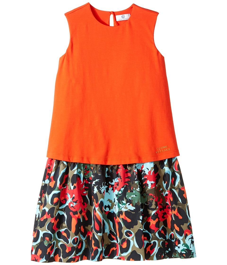 Versace Kids - Layered Dress w/ Animal Print Skirt