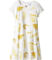 Versace Kids - Short Sleeve Dress w/ Medusa Barocco Print on Front (Big Kids)