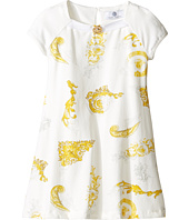 Versace Kids - Short Sleeve Dress w/ Medusa Barocco Print on Front (Toddler/Little Kids)