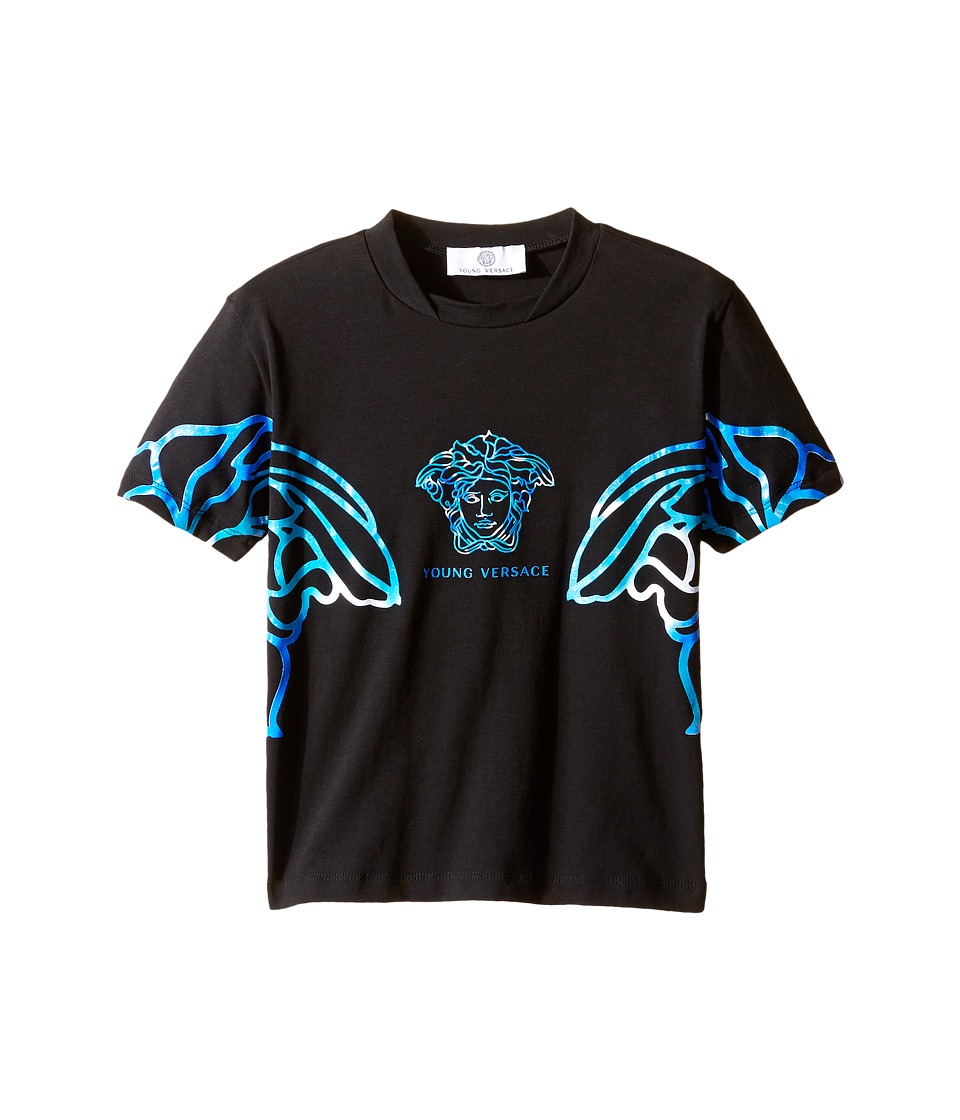 Versace Kids Short Sleeve Multicolored Medusa T-Shirt (Toddler/Little Kids) (Black/Multi) Boy