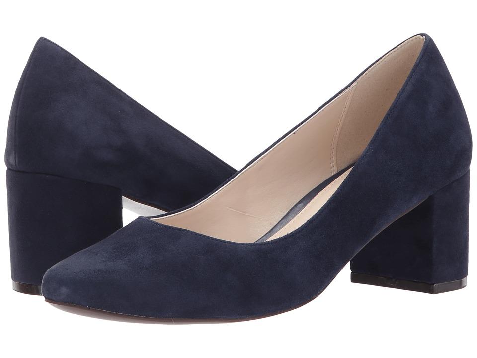 Cole Haan Justine Pump 55 (Marine Blue Suede) High Heels
