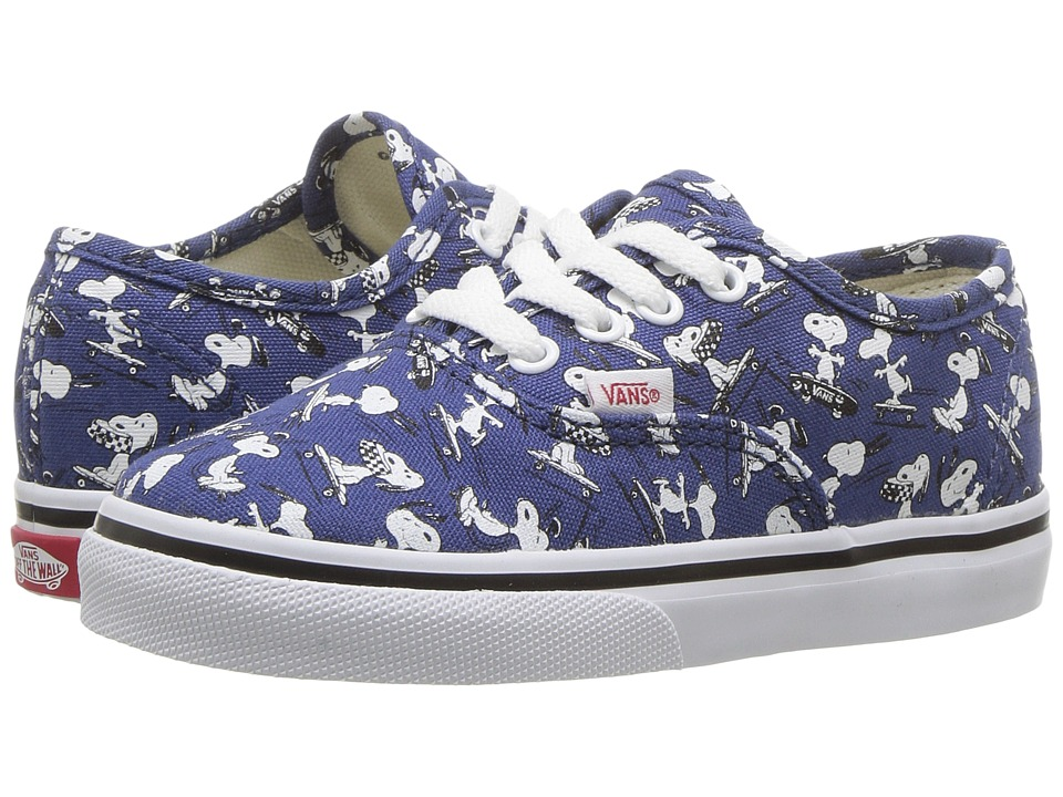 Vans Kids Authentic x Peanuts (Infant/Toddler) ((Peanuts) Snoopy/Skating) Kids Shoes