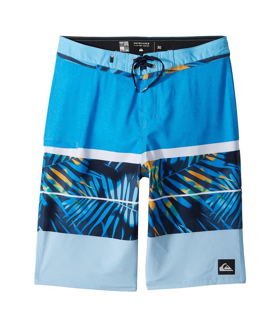 Quiksilver Kids Slab Print Vee 19 Boardshorts (Big Kids) (Brilliant Blue) Boy