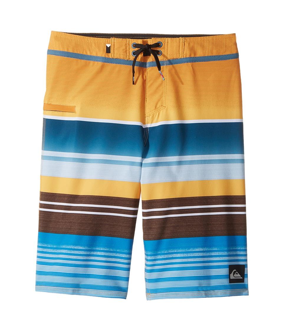 Quiksilver Kids Everyday Stripe Vee Boardshorts (Big Kids) (Artisan Gold) Boy