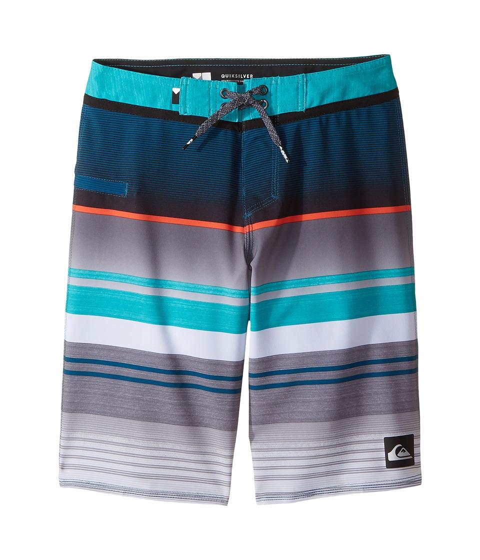 Quiksilver Kids Everyday Stripe Vee Boardshorts (Big Kids) (Viridian Green) Boy