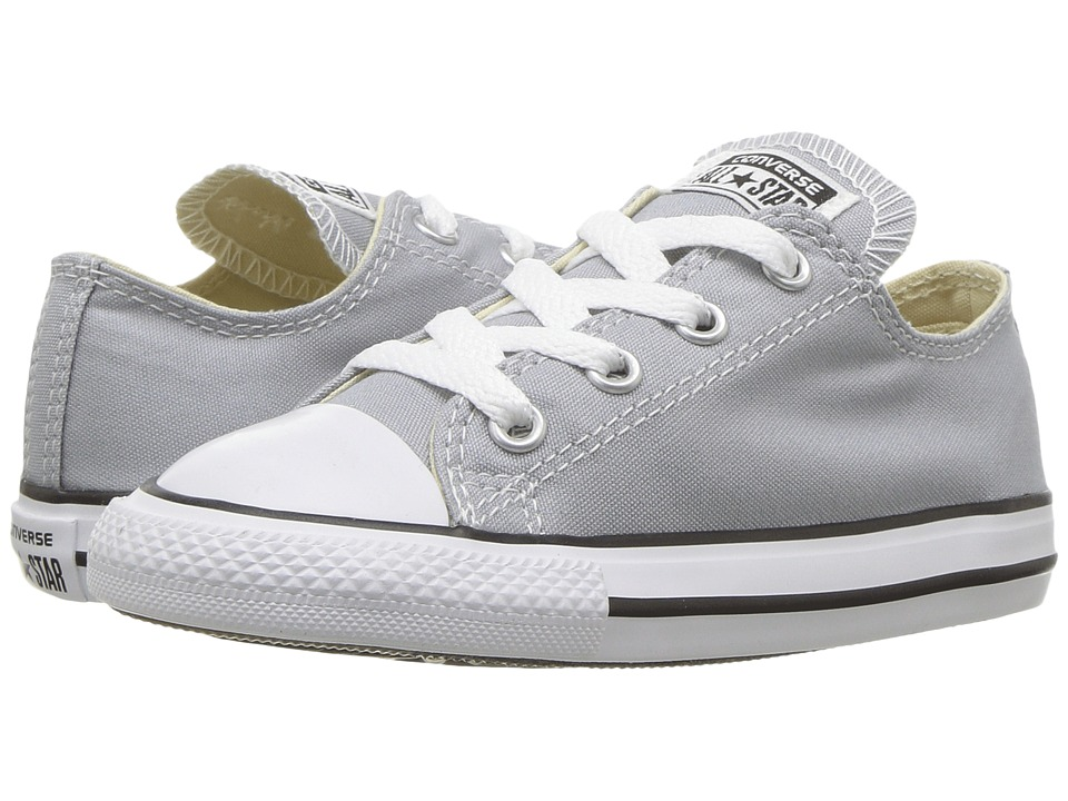 Converse Kids Chuck Taylor All Star Ox (Infant/Toddler) (Wolf Grey) Kids Shoes