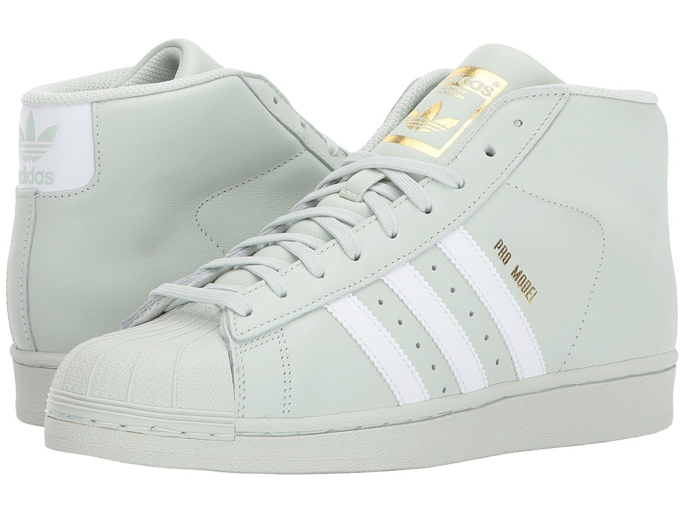 adidas Originals - Pro Model (Linen Green/White/Gold) Mens Classic Shoes