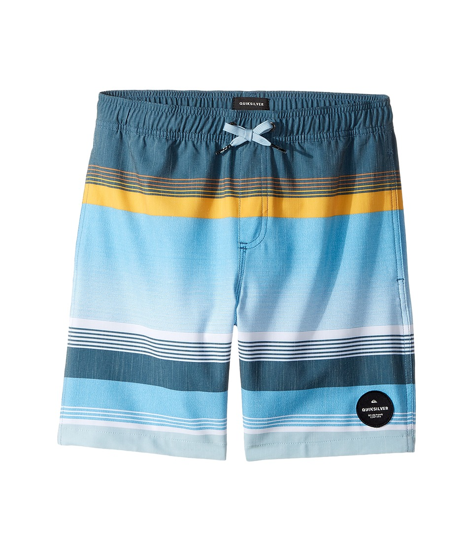 Quiksilver Kids Swell Vision Volley 15 (Big Kids) (Indian Teal) Boy
