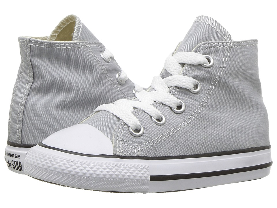 Converse Kids Chuck Taylor All Star Hi (Infant/Toddler) (Wolf Grey) Kids Shoes