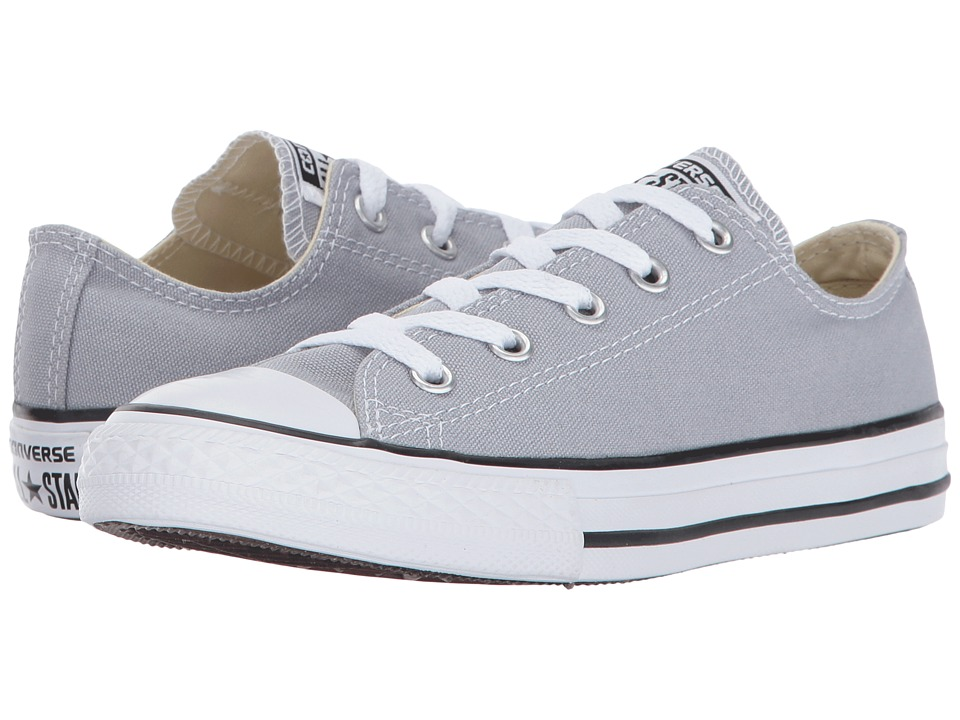 Converse Kids Chuck Taylor All Star Ox (Little Kid) (Wolf Grey) Kids Shoes