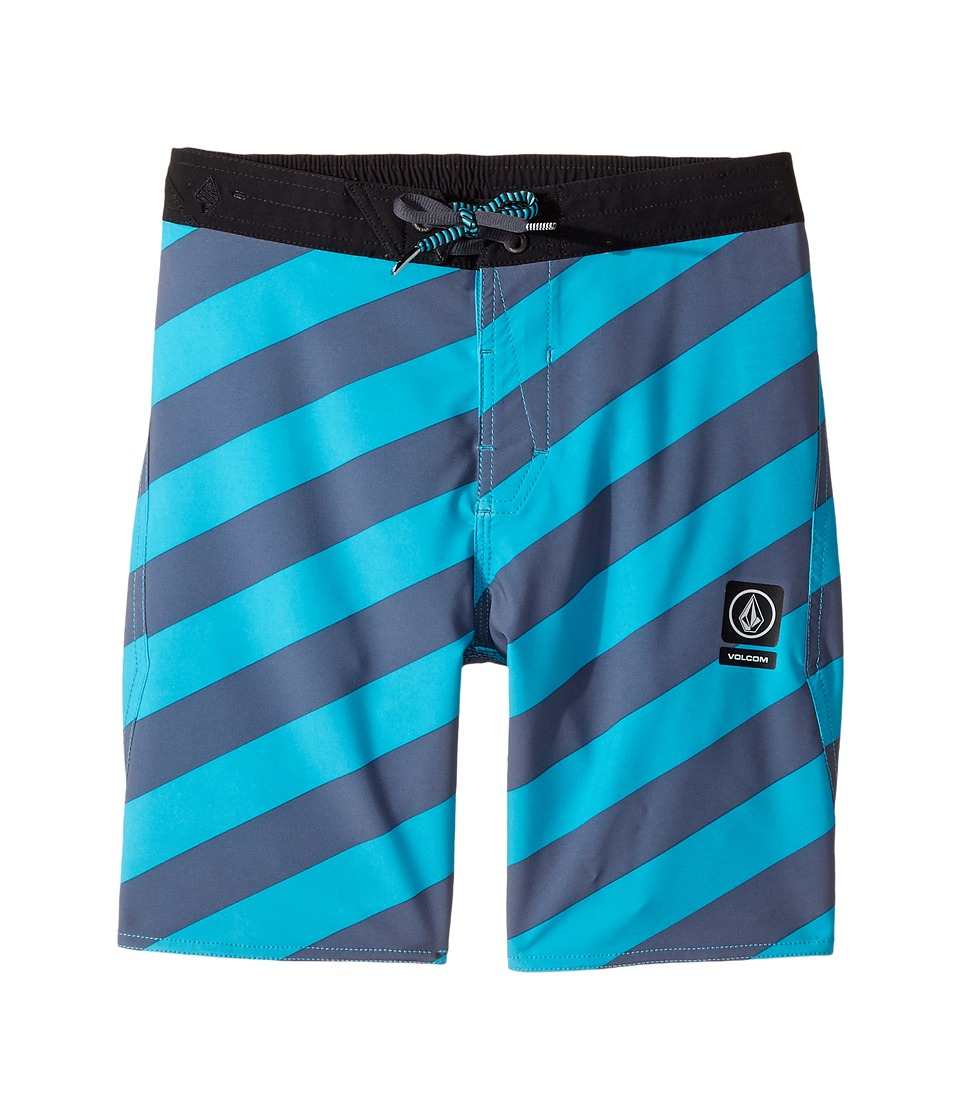 Volcom Kids Stripey Half Stoney Boardshort (Little Kids/Big Kids) (Aqua) Boy