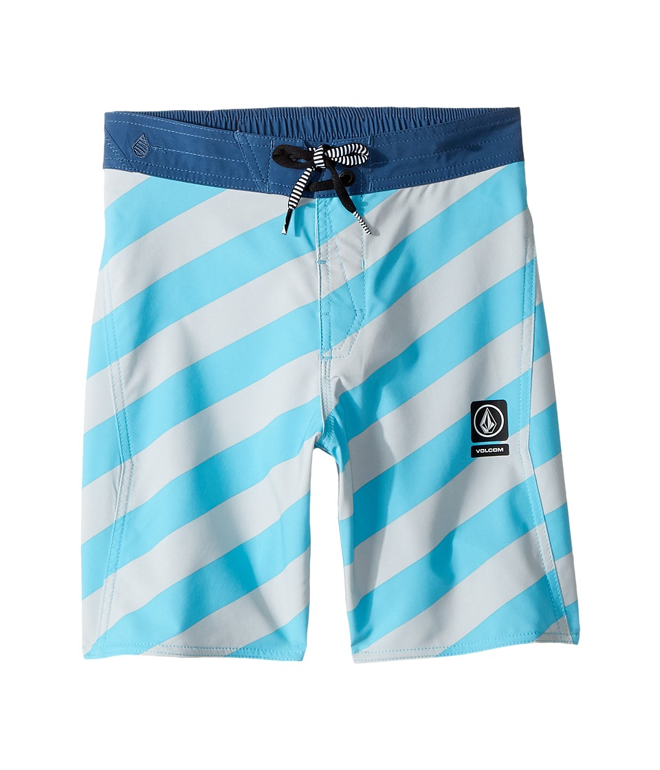 Volcom Kids Stripey Half Stoney Boardshort (Little Kids/Big Kids) (Dusty Aqua) Boy