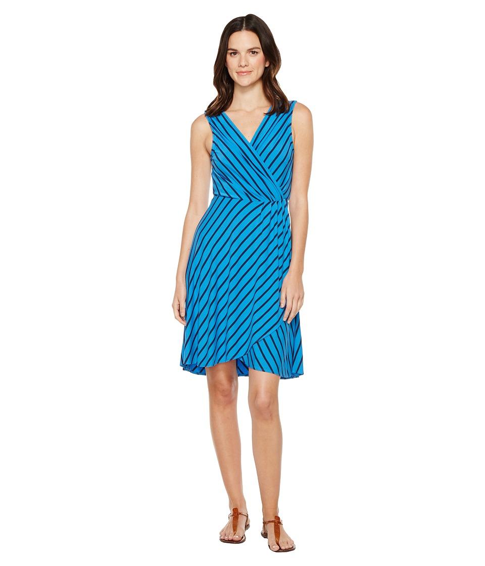 Tommy Bahama Portside Stripe Short Dress (Download Blue) Women