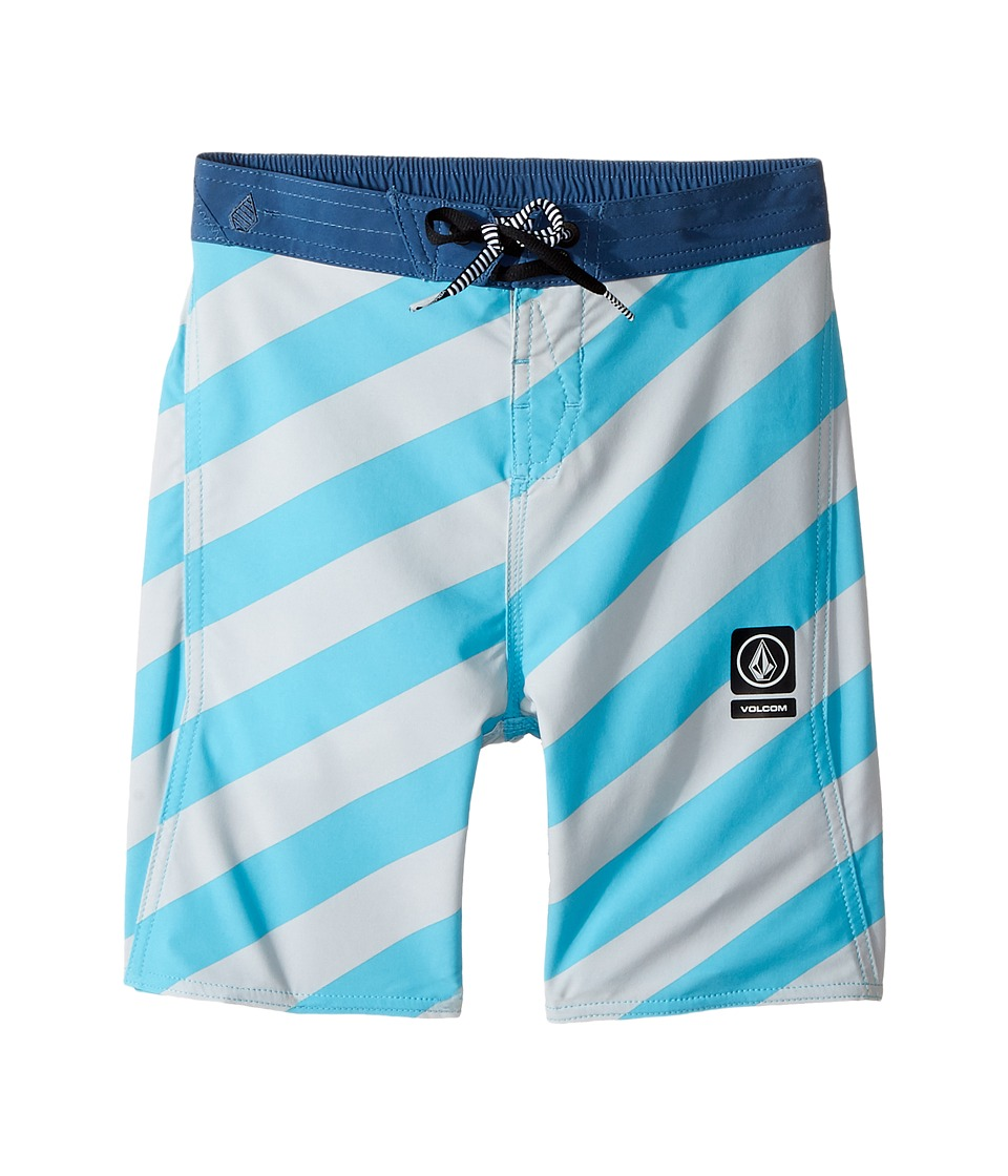 Volcom Kids Stripey Half Stoney Boardshort (Toddler/Little Kids) (Dusty Aqua) Boy