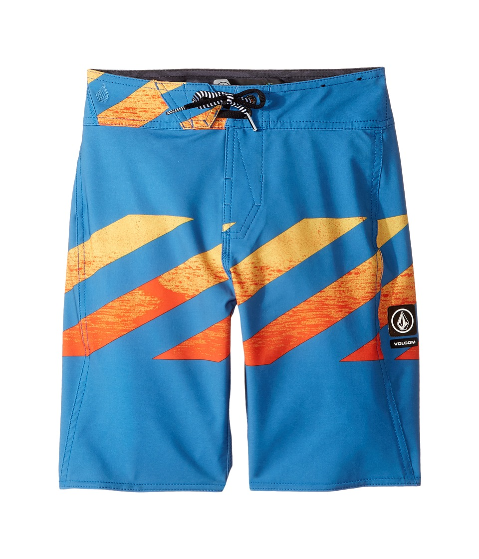 Volcom Kids Macaw Mod Boardshorts (Big Kids) (Bright Orange) Boy