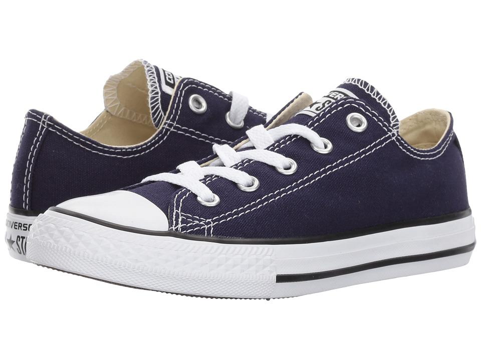 Converse Kids Chuck Taylor All Star Ox (Little Kid) (Midnight Indigo) Kids Shoes