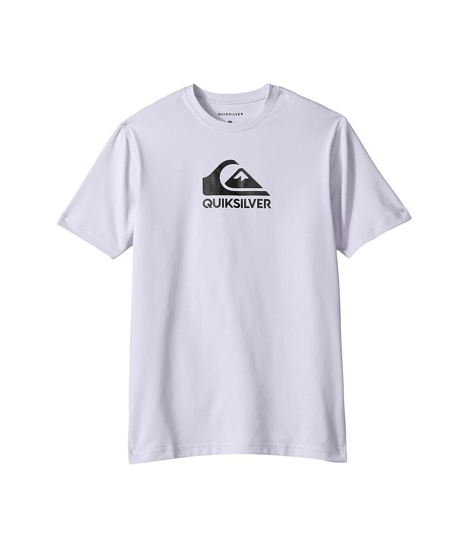 Quiksilver Kids - Solid Streak Loose Fit Rashguard (Big Kids) (White) Boys T Shirt