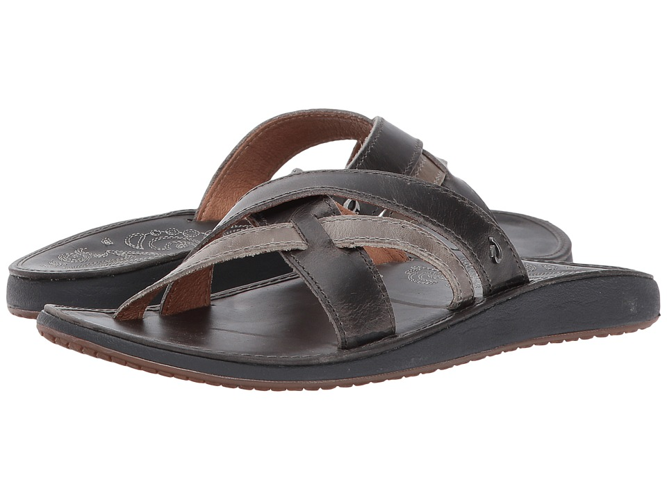 OluKai - Paniolo Slide (Charcoal/Charcoal) Women's Sandals